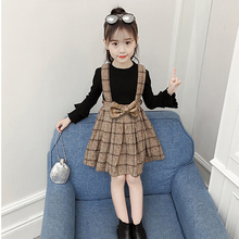 Kids Dresses For girls Spring Autumn Baby Dress Long Sleeve Plaid Costume Children Clothes 1-7 Years