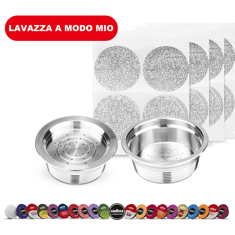 Reusable Coffee Capsule Disposable Foils Seal Stainless Steel For Lavazza A Modo Mio Filter Pod Aluminum Foil Coffee Machine