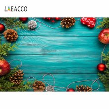 Фотофон laeacco с изображением фруктов голубой деревянной доски