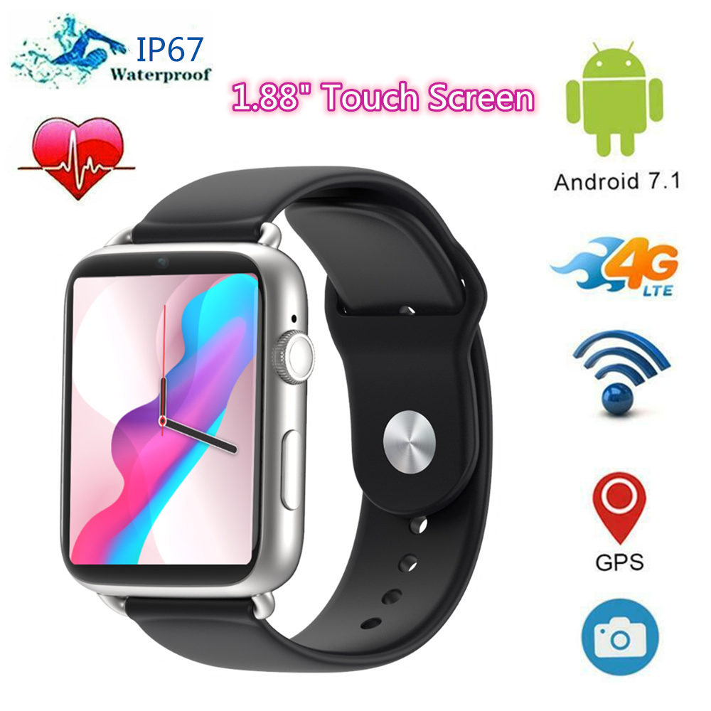 DM20 Smartwach Men Women 32GB/16GB 1.88 inch Touch Screen 4G Smart Watch Android 7.1 WiFi GPS Phone Call SIM Camera Smartwatch