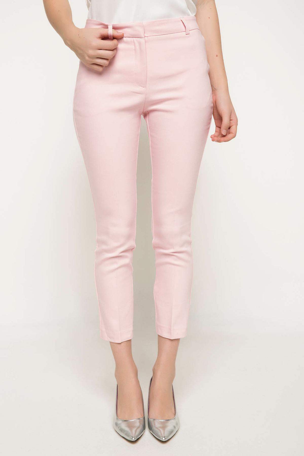 DeFacto Women Spring Ninth Skinny Pants Women Casual Mid-waist Long Pants Female Bottoms Women Pink Trousers-I5291AZ18SP