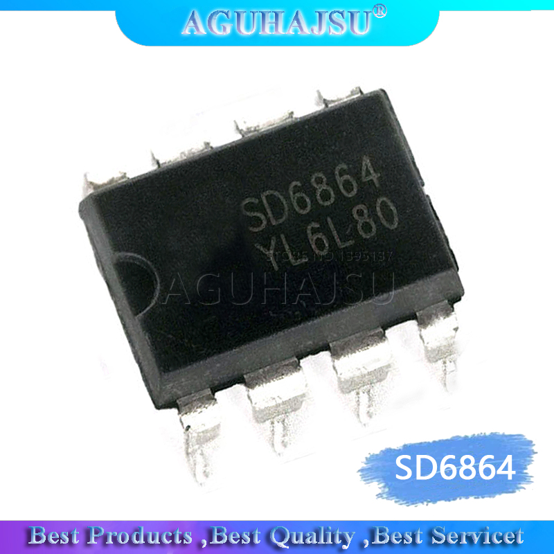 1pcs <font><b>SD6864</b></font> DIP-8 Switching power management chip image