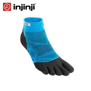 Image 1 - Injinji חמש אצבע גרבי נמוך דק ריצה שלפוחית מניעת גרבי Coolmax גברים מהיר ייבוש מוצק צבע רכיבה על אופניים ספורט גברים