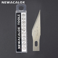 Лезвия из нержавеющей стали NEWACALOX  20 шт.  режущий гравер рукоделие хобби  нож  скальпель  резьба по дереву  ремонт печатных плат