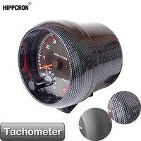 Tacómetro de 3,75 pulgadas y 95mm para coche, medidor de Color blanco, LED, 12V, calibre automático (fibra de carbono o Color negro), TAC 0-8000 RPM