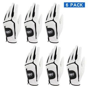 6 PCS Men Golf Glove Genuine sheepskin leather Breathable Men's Gloves Left Hand Fit Small Medium ML Large XL XXL