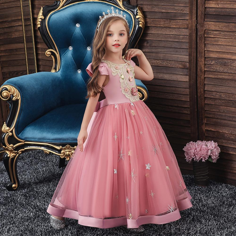 Baby Peach Flower Girl Party Bridesmaid Christening Summer Prom Pageant Dress