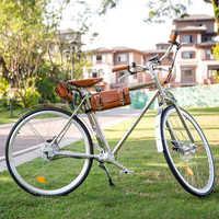 Sheng milo-Bicicleta Eléctrica Retro, de 350W, para vehículos de carretera clásicos, eléctricos y Vintage, 700C