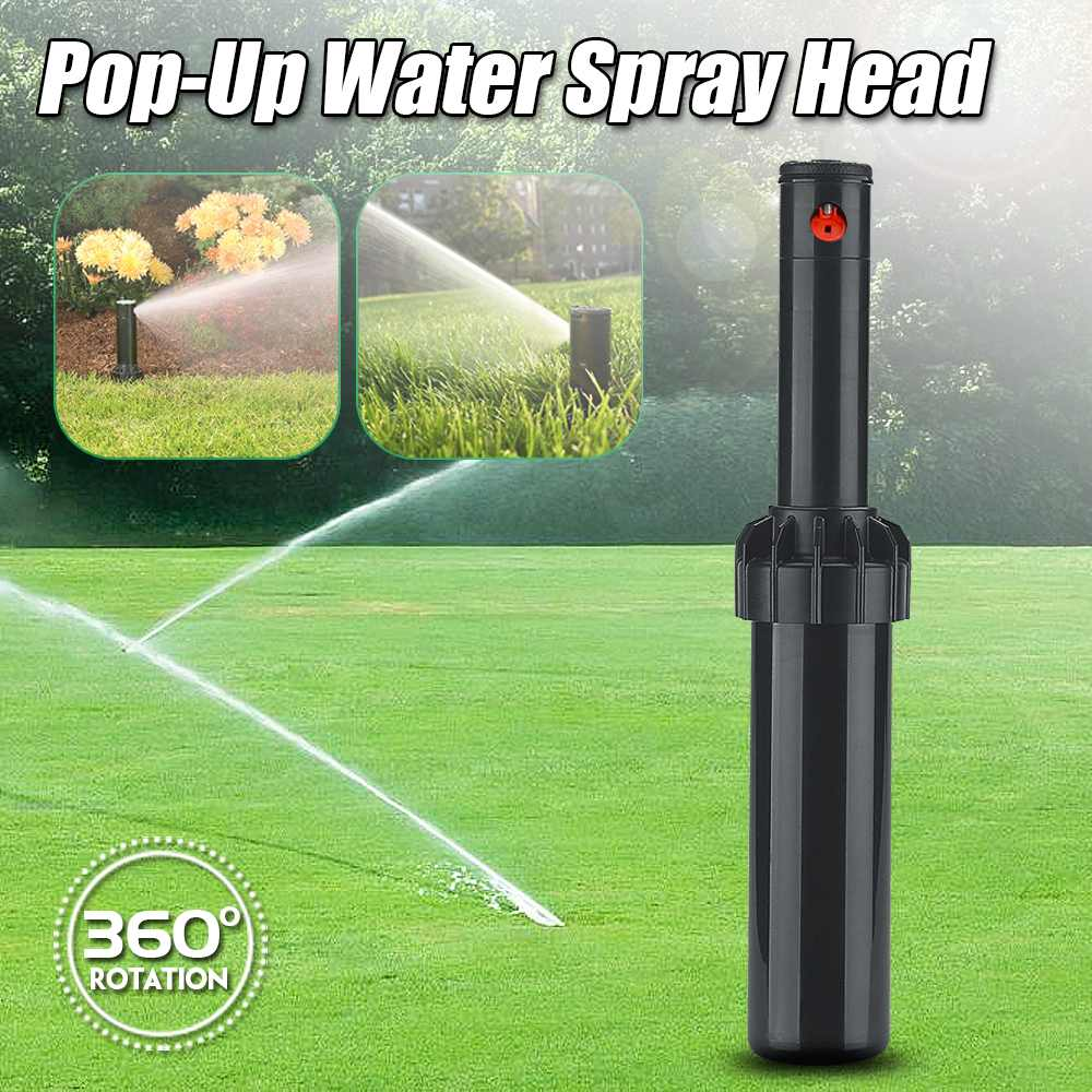 3/4 Inch Automatic Rotation Nozzle Lawn Sprinkler Pop-up Spray Head Sprinkler Misting Garden Irrigation Misting Watering System