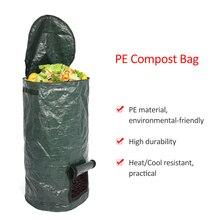 2 размера органических отходов Кухня шланг для полива огорода, двора, мешок для компоста окружающую среду из полиэтиленовой ткани ящик для комнатных растений, спальные мешки