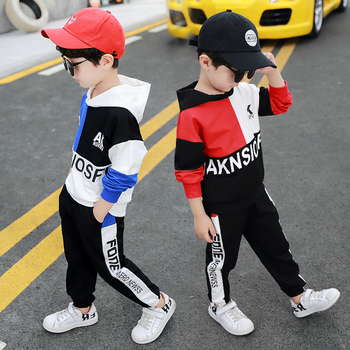 Boys Clothes Kids Boutique Clothing Set Hoodie + Pants Toddler Children Outfits Patchwork 2019 Spring Autumn Fall 2 to 9 Years