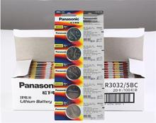 20pcs/lot Panasonic BR3032 ECR3032 DL3032 3V Button Battery Cell Coin Car Remote Control Electric Alarm Batteries BR 3032 20pcs lot panasonic 3v br2032 battery br 2032 high temperature button coin batteries cell