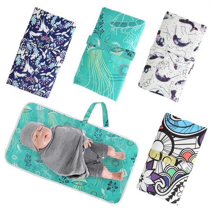 Nieuwe Baby Draagbare Opvouwbare Wasbare Compact Travel Wasbare Nappy Luier Aankleedkussen Ohbabyka Waterdichte Vloer Change Play Mat