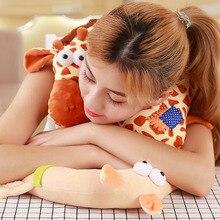 U-Shaped Plush Sleep Neck Protection Pillow Baby Children Cushion Car Travel Massage Cartoon Headrest
