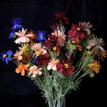 YO CHO искусственный цветок, «сделай сам», цветок счастья, композиция с 9 цветами, искусственные маргаритки, шампанское, домашний декор для сто...