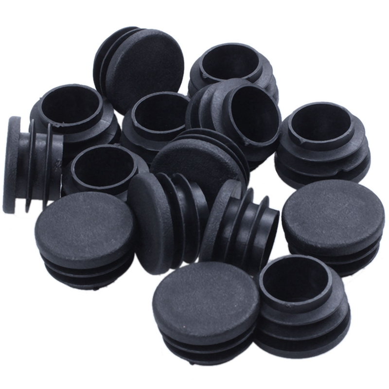 BEAU-15 Pieces Of Chair Table Legs End Plug 25mm Diameter Round Plastic Inserted Tube
