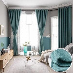 Cortinas opacas modernas de estilo europeo para sala de estar, ventanas, dormitorio, telas, cortinas acabadas listas, Tend