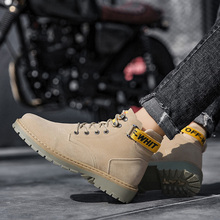 Retro High Top Martin Boots Men Fashion Breathable Walking Shoes Mens Anti-Slippery Hard-Wearing Casual Sneakers Scarpe