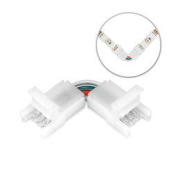 WS2811 LED Strip Connectors 2/3/4 Pin 8/10mm L-Shape Right Angle Connector For WS2812b 3528 5050 RGB LED Strip Light