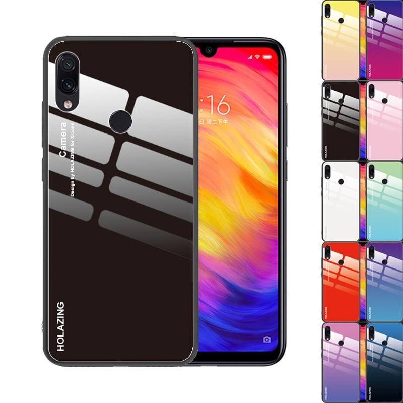 Black Red Gradient Color Reflective Tempered Glass Cover For Xiaomi Redmi Note 7 6 K30 Redmi K20 Note 8 Pro Luxury Case Cover For Cover Coverscover For Note 5 Aliexpress