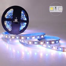 16.4ft dc24v 17w 10mm fpbc 360leds 5050 smd led luz de tira rgb + cct cor branca dupla mudando e temperatura de cor ajustável