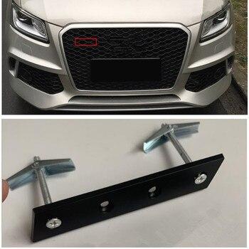 สัญลักษณ์วงเล็บ S3 S4 S5 S6 S7 S8 SQ3 SQ5 RSQ3 RSQ5 RSQ7 RS3 RS4 RS5 RS6 RS7 RS8 TTS TTRS สำหรับ Audi Honeycomb Grille Styling โลโก้