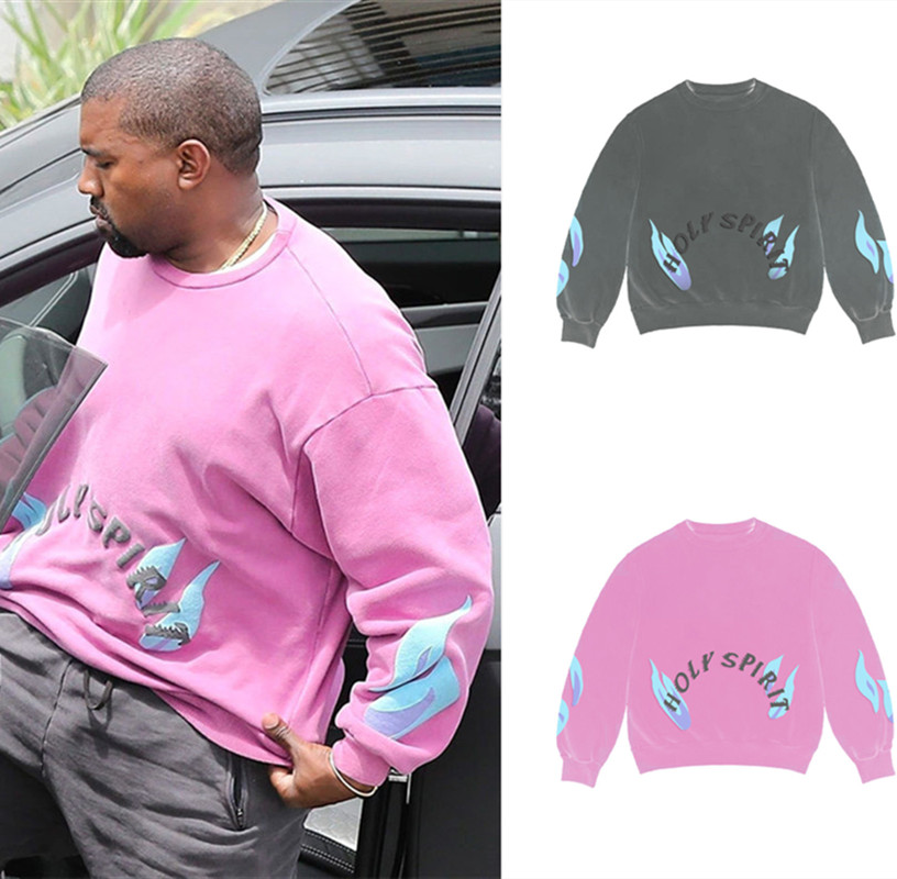 Pink Kanye West Sunday Service Holy Spirit CPFM.XYZ Sweatshirt Women Men Hoodies Sweatshirt Men Tie Dye Hoodie Pullover