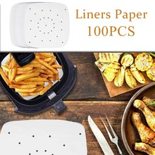 Paper Perforated-Paper Air-Fryer Streamer Pansnon-Stick Oil-Absorbing Pastry Baking-Mat
