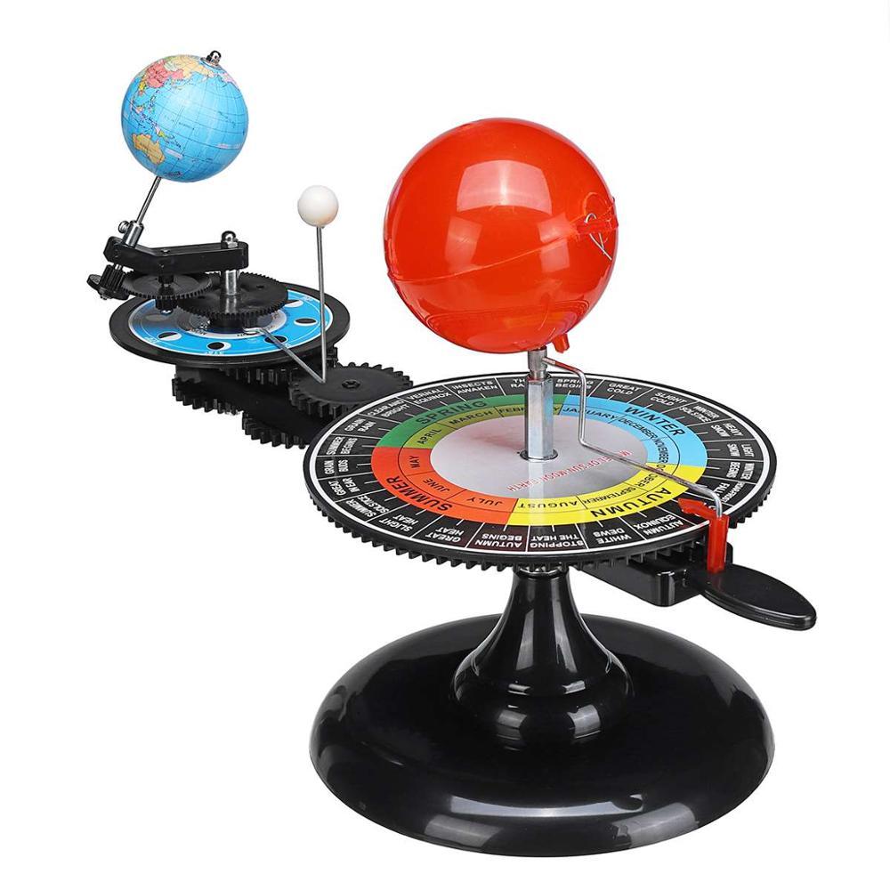 Sistema Solar modelo DIY globo tierra sol Luna planetario Orbital educativo para niño chico juguete ciencia astronómica Kit de enseñanza