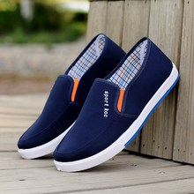 Hot Old Beijing Cloth Walking Shoes Men Breathable Comfortable Canvas shoe Four Seasons Casual Lazy Man shoes Light Weight Flat