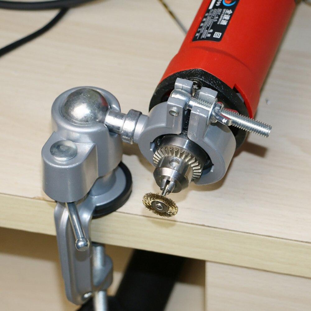 Универсальный зажимный Настольный держатель для вилок, мини-стойка для электродрели, плоская вращающаяся на 360 градусов стойка для шлифова...