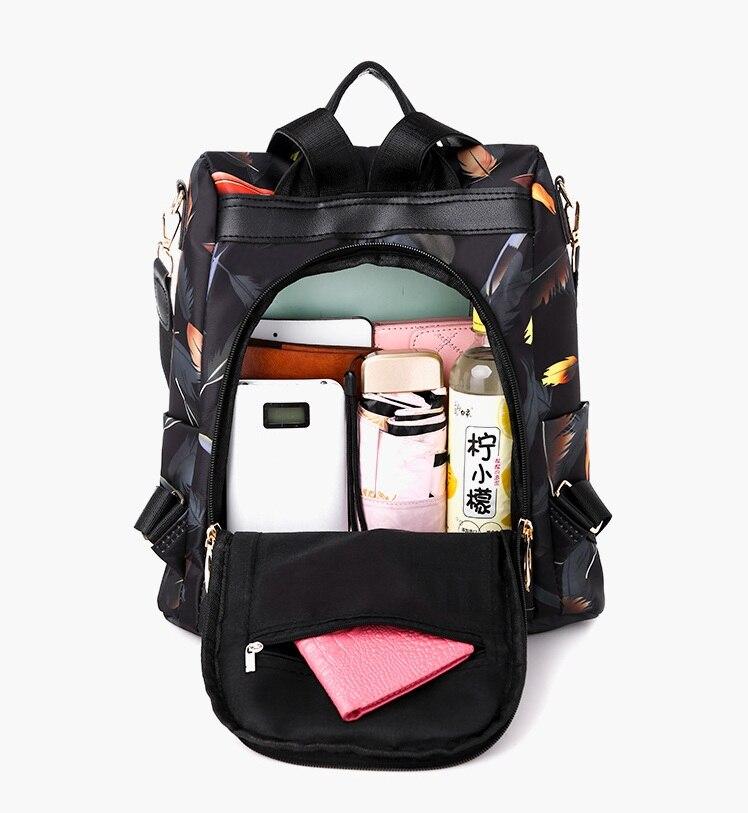 H4ac4fbef263040b38d96a6198baa3aeab Mochilas mujer 2019 New Oxford cloth waterproof student bag Travel casual backpack women outdoor bag mochila feminina CL05