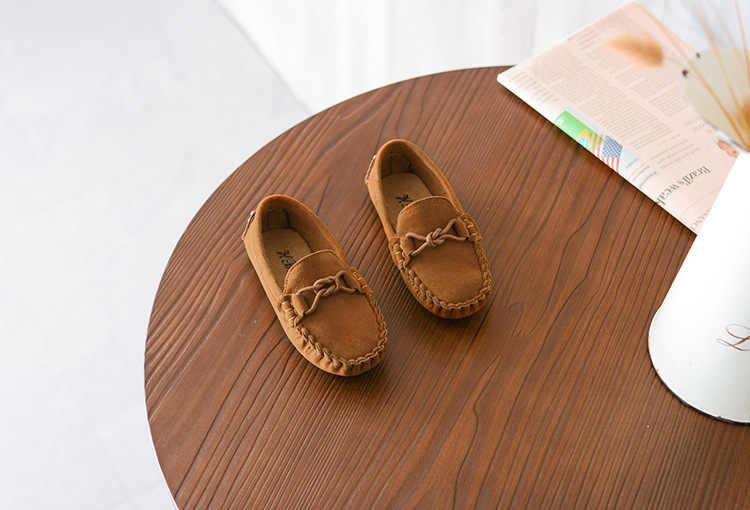 חדש כניסות בני נעלי ילדי ופרס להחליק על שטוח נעלי תינוק ילדים דירות רך בנות נעליים עם שרשרת walkproof