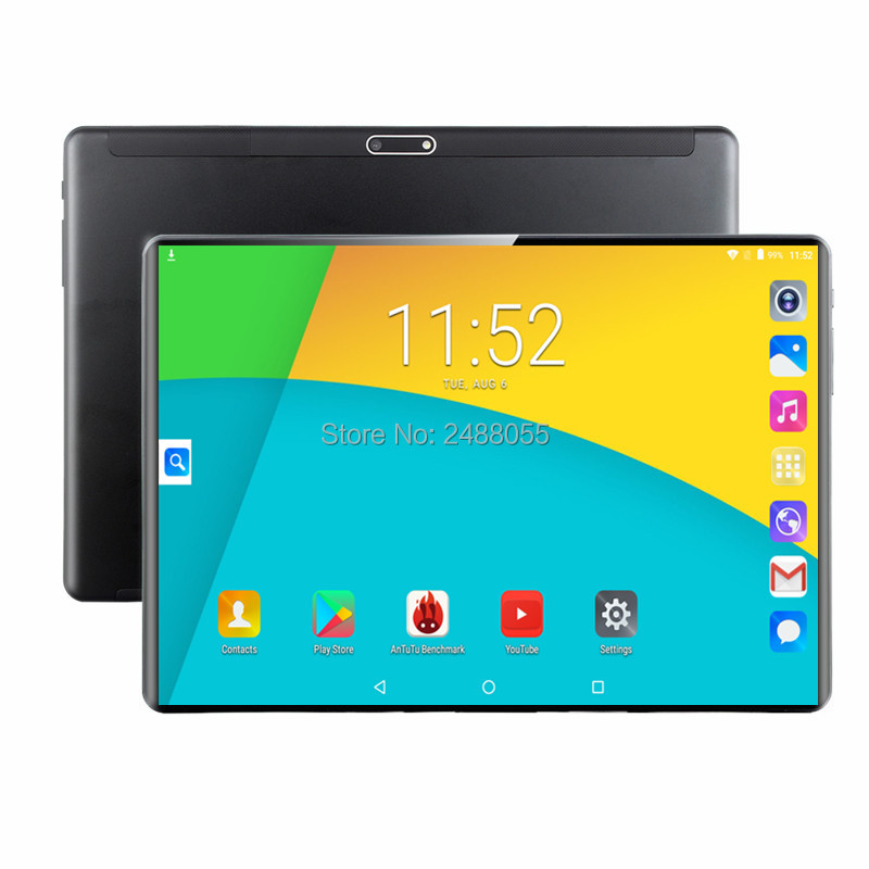 Android 9.0 OS Google Play Store 4G LTE 10 Inch MT8752 Octa Core Tablet 6GB RAM 64GB ROM Dual SIM Trays 1280*800 IPS 2.5D Glass