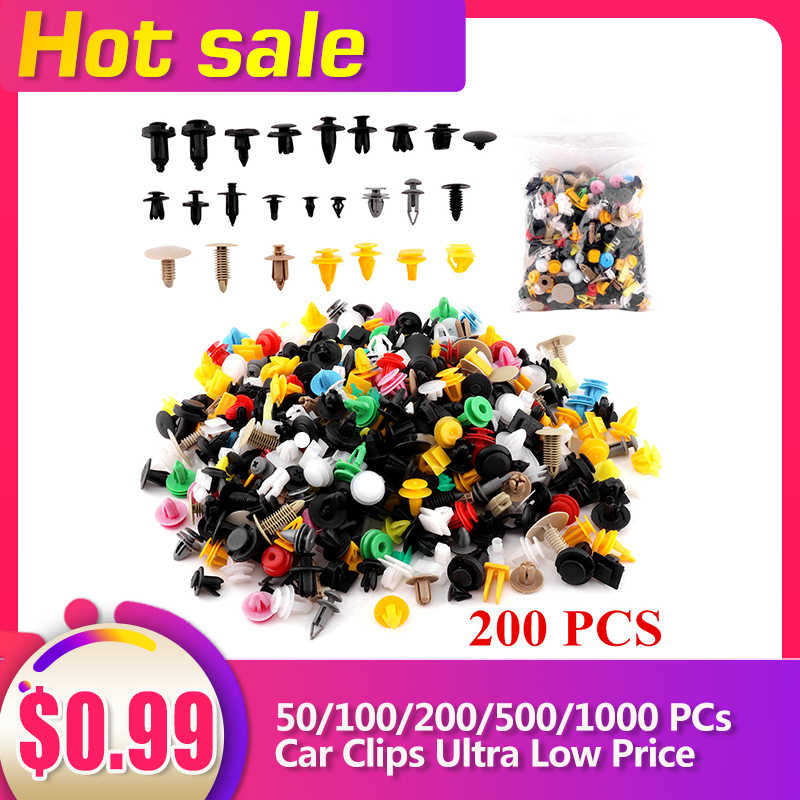 50/100/200/500/1000 Pcs Auto Pin Klinknagels Plastic Kit Auto Retainer Clips Met Tool Fit Voor honda/Ford/Chrysler/Gm/Toyota Auto Clips