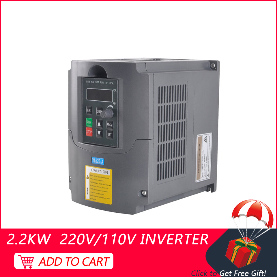 <font><b>Inverter</b></font> 2.2kw 220 v/110 v CNC VFD <font><b>Inverter</b></font> Variable Frequency Treiber <font><b>inverter</b></font> Single-phase Eingang Für Spindel motor Fräsen Ma image