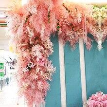 Pink wedding flower scene with wedding flower Wenxin orchid rime simulation flower wedding match grass шампунь grass pink