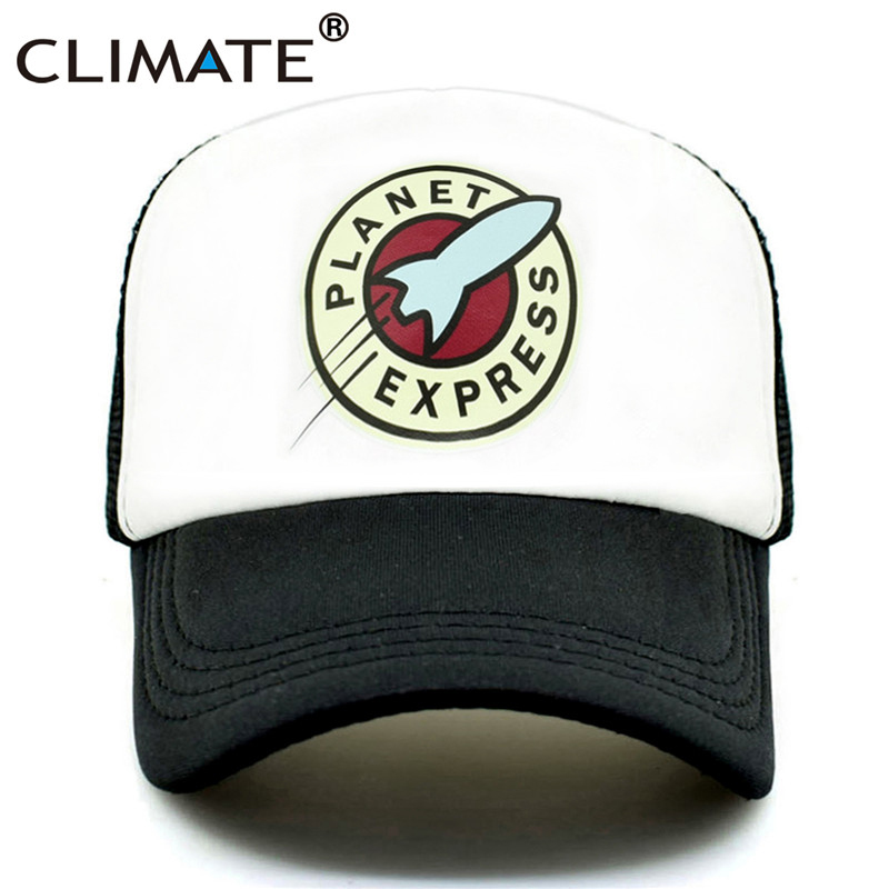 CLIMATE Planet Express Trucker Cap Hat Funny Space Mesh Caps The Musk Rocket Spaceship Cool Summer Caps Hat For Men Women