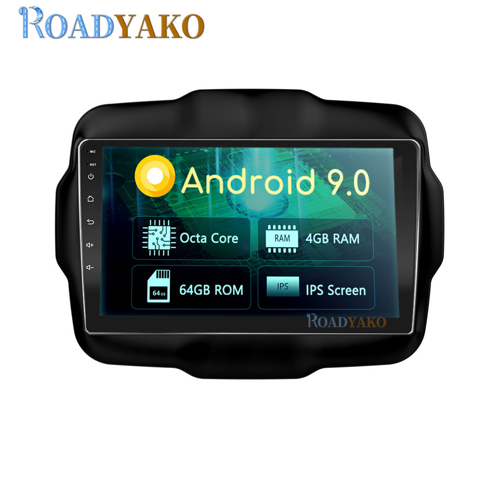 9'' Android Auto Car Radio For Jeep Renegade 2016 - 2019 Stereo Car Harness Multimedia Player GPS Navigation 2 Din Autoradio