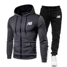 New printed sportswear, men's warmth, men's sportswear suit, cotton hoodie + pants, sports suit, casual sweatshirt, sports suit