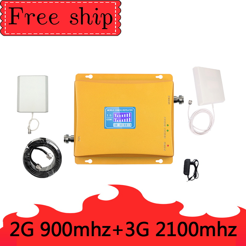 TFX GSM 900mhz WCDMA 2100mhz Cellular Signal Booster 2G 3G Dual Band Cellphone Repeater GSM 900 2100 UMTS Signal Amplifier