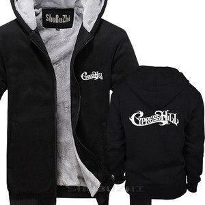 Image 2 - Cypress hill 남성 두꺼운 재킷 스웨터 까마귀 검은 바위 겨울 가을 브랜드 풀오버 남성 면화 맨 탑스 sbz5336