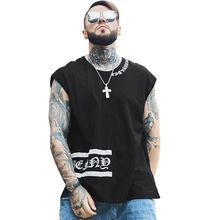 Hip Hop Tank Tops Men Cotton 2019 Brand China Sleeveless Shirt Pattern Male Streetwear Tee Solid Colors Plus Large Size 7XL