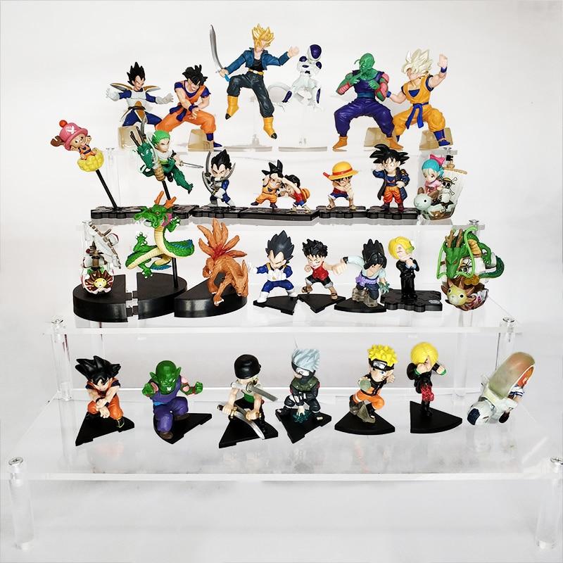 6pcs/10pcs/12pcs/13pcs/16pcs Dragon Ball Goku Vegeta Shenron Action Figure Naruto One Piece Luffy  Figurines Model Kid Toys