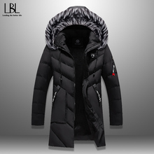 Winter Parka Men's Solid Jacket 2019 New Arrival Thick Warm Coat Long Hooded Jac