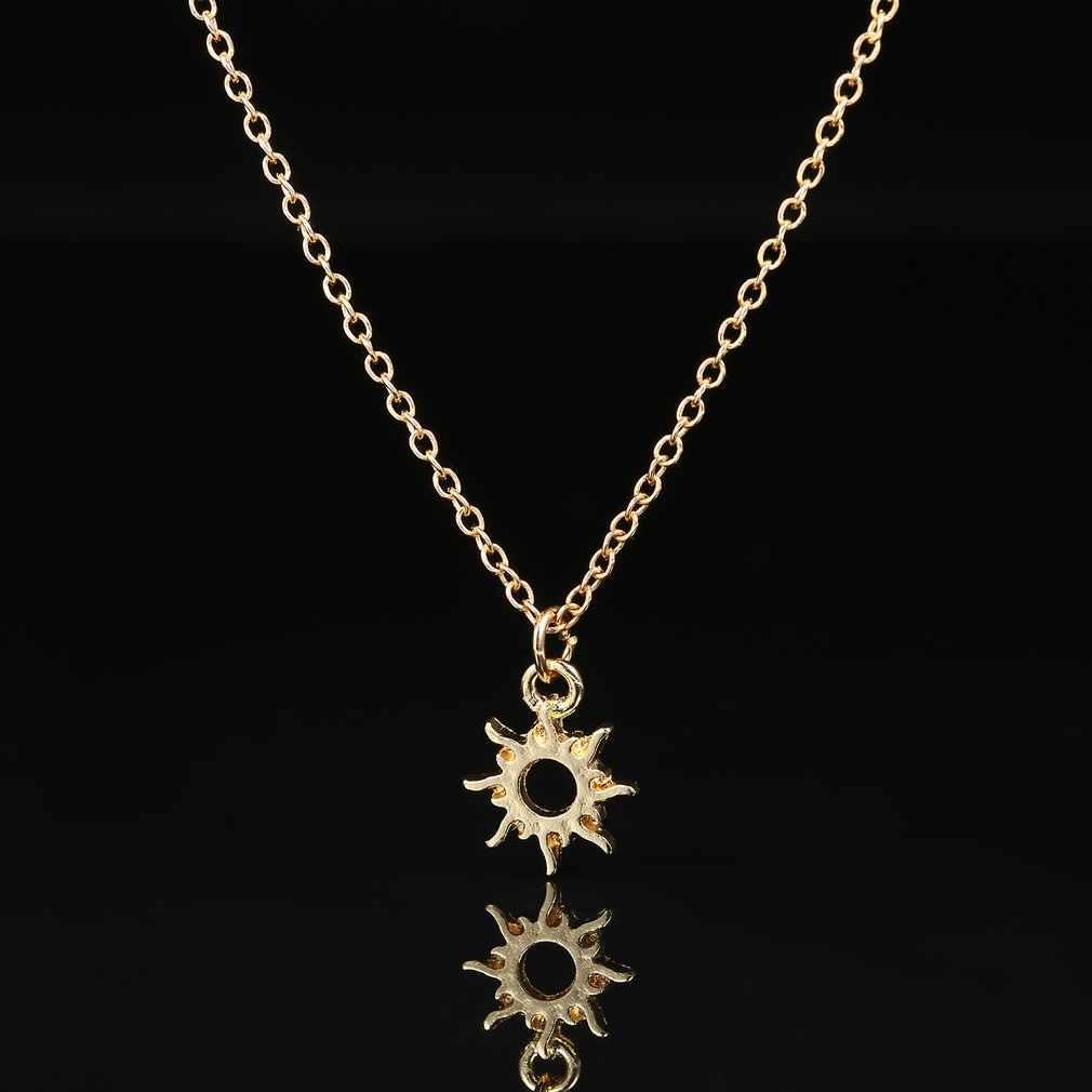 אופנתי עצם הבריח שרשרות שרשראות לב/שש-awn-כוכב/לוטוס/שמש-אלוהים צורת סגסוגת תליון שרשרת עם מתנות כרטיס תכשיטים