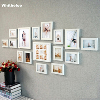 16Pcs/Set Wooden Picture Frame For Wall Nature Solid Wood Frame Wall Hanging Photo Frame Poster Frames For Pictures Home Decor