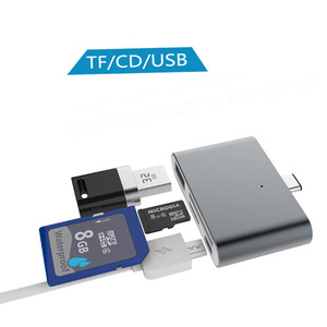 Image 3 - Type c Hub Multifunction Card Reader Otg  Phone Card Reading 4 In 1 SD/TF Memory Card U Disk USB3.1 Type C To USB2.0 Readers