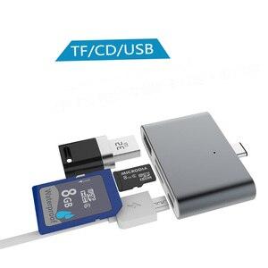 Image 3 - סוג c רכזת משולב כרטיס קורא Otg טלפון כרטיס קריאת 4 ב 1 SD/TF זיכרון כרטיס U דיסק USB3.1 סוג C כדי USB2.0 קוראי