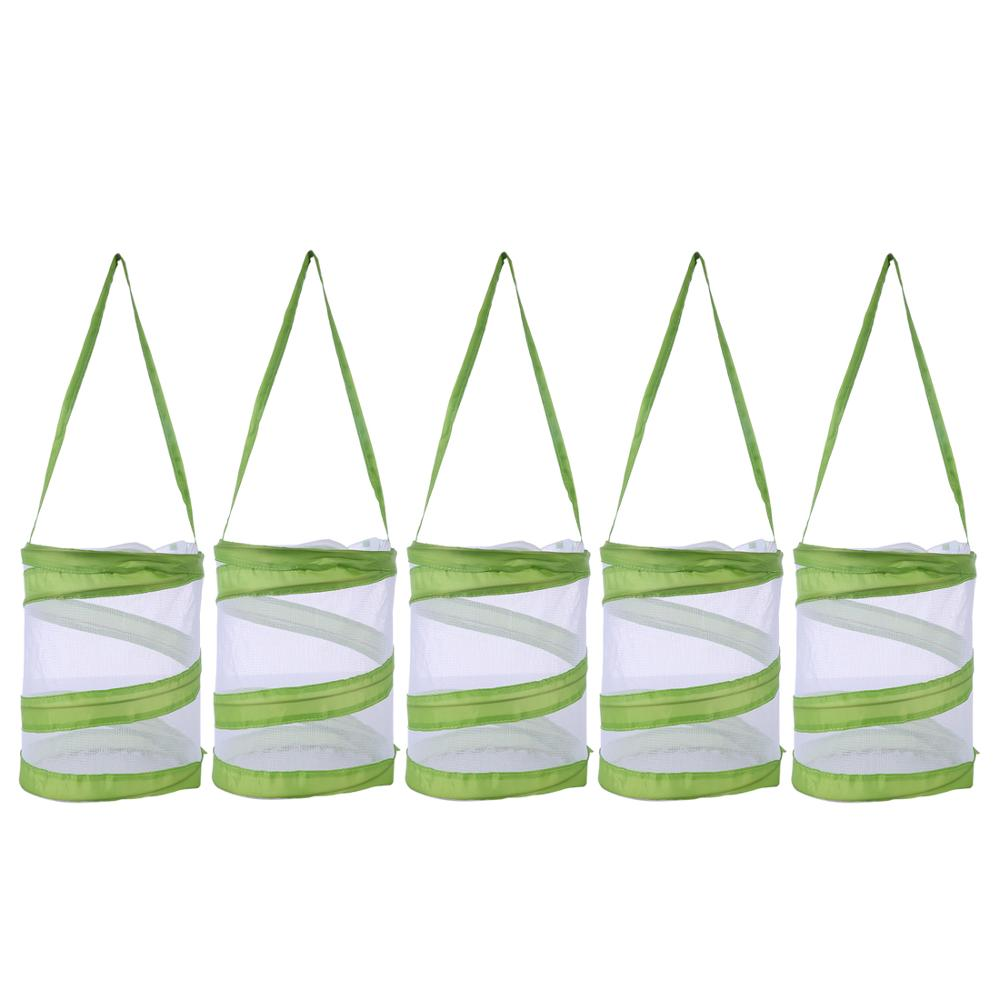 1pcs / 5pcs Butterfly And Insect Habitat Cage Butterfly Pavilion Mesh Terrarium Pop-up - White + Green S